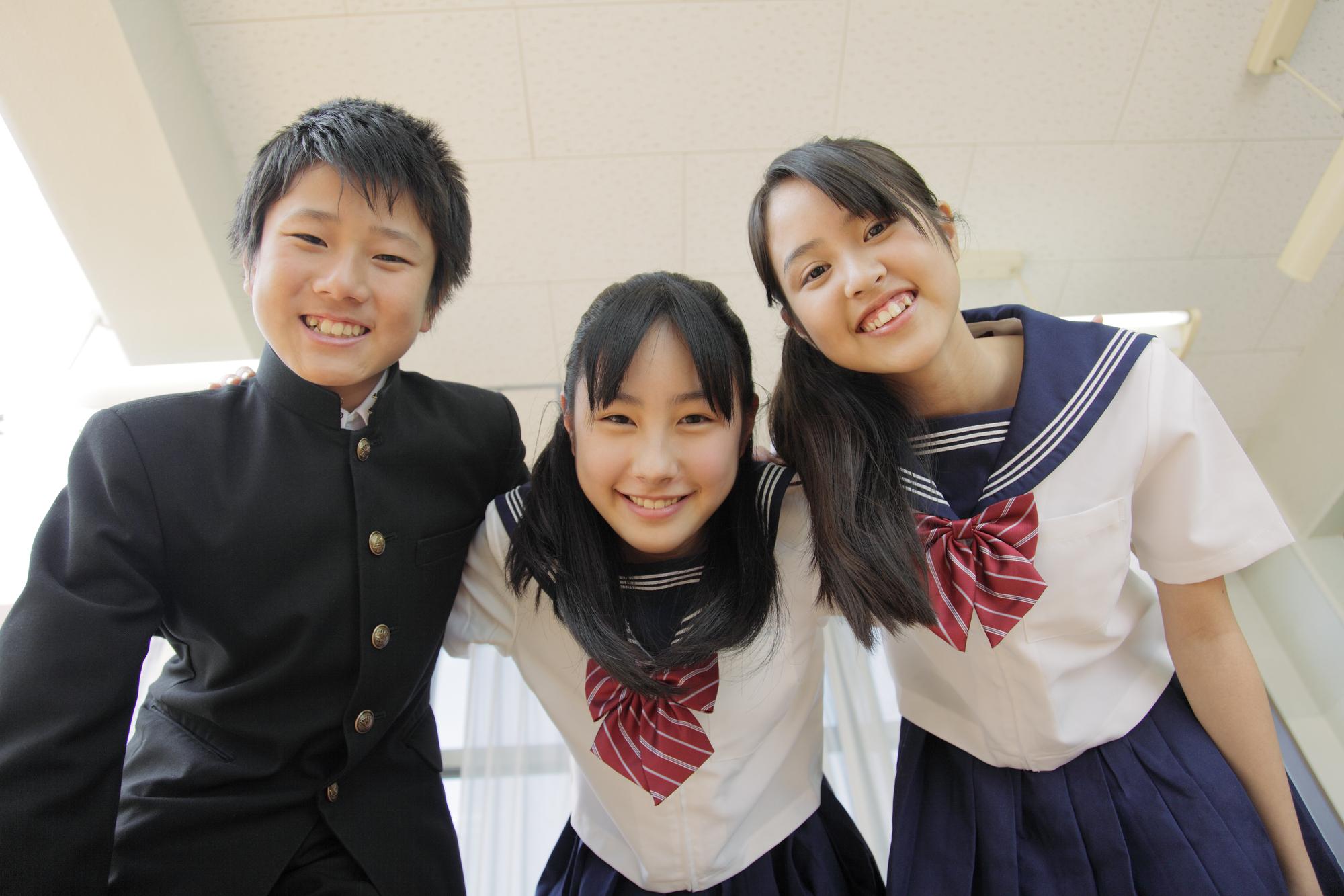 中学生と身長
